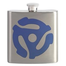 Blue 45 RPM Adapter Flask