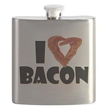I Heart Bacon Flask