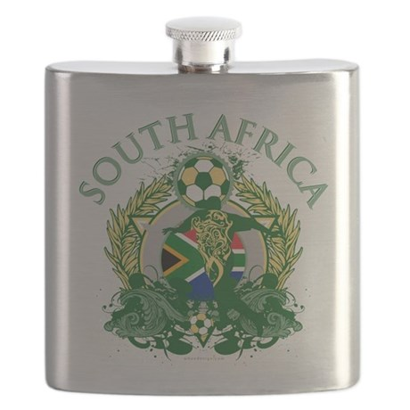 South Africa Soccer Flask