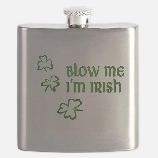 Blow Me I'm Irish Flask