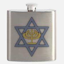 Star of David with Menorah Flask