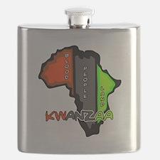 Kwanzaa Africa Flask