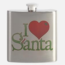 I Heart Santa Flask