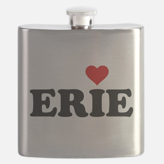 Erie with Heart Flask