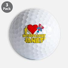 I Heart Interplanet Janet! Golf Ball