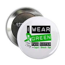 "Green Ribbon Twin Sister 2.25"" Button"