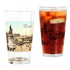Vintage Paris Drinking Glass