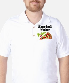Social Worker Funny Pizza T-Shirt