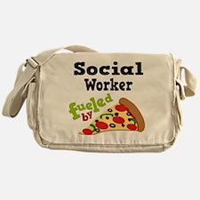 Social Worker Funny Pizza Messenger Bag