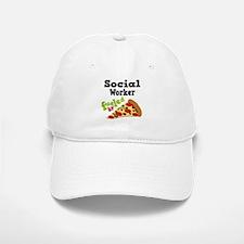 Social Worker Funny Pizza Baseball Baseball Cap
