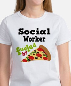 Social Worker Funny Pizza Tee