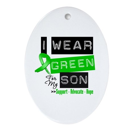 I Wear Green For My Son Ornament (Oval)