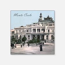 """Vintage Monte Carlo Casino Square Sticker 3"""" x 3"""""""