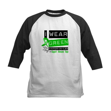 Green Ribbon Sister-in-Law Kids Baseball Jersey
