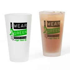 Green Ribbon Sister-in-Law Drinking Glass