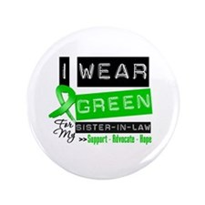 """Green Ribbon Sister-in-Law 3.5"""" Button"""