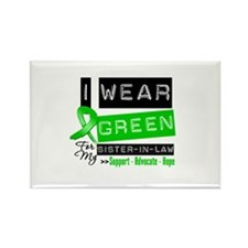 Green Ribbon Sister-in-Law Rectangle Magnet