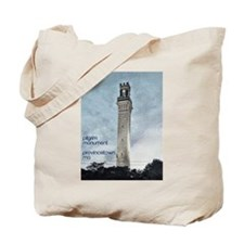 Pilgrim Monument - Blue Tote Bag