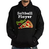 Funny softball Dark Hoodies