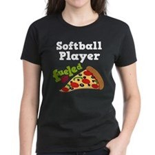 Softball Player Funny Pizza Tee