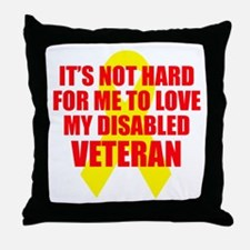 NotHardToLoveDisVet Throw Pillow