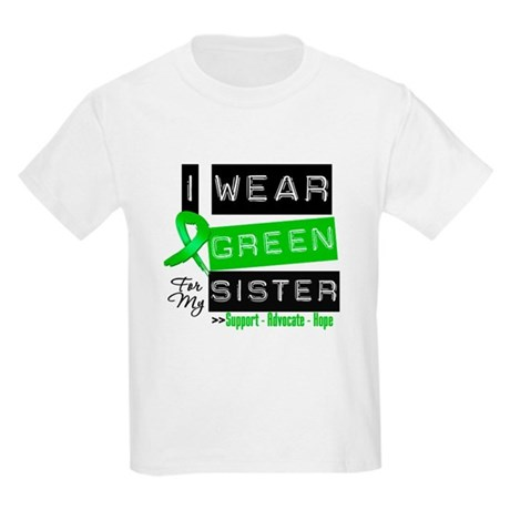 I Wear Green For My Sister Kids Light T-Shirt