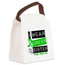I Wear Green For My Sister Canvas Lunch Bag