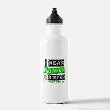 I Wear Green For My Sister Water Bottle