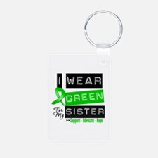 I Wear Green For My Sister Keychains