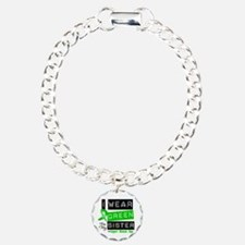 I Wear Green For My Sister Charm Bracelet, One Cha