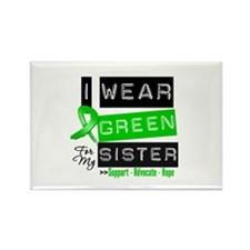 I Wear Green For My Sister Rectangle Magnet