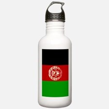 Afghanistan flag 2 Sports Water Bottle
