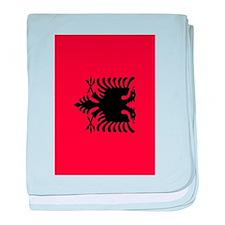 angola flag 2 baby blanket