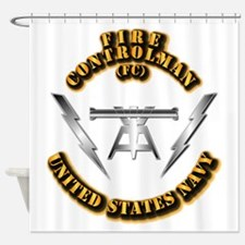 Navy - Rate - FC Shower Curtain