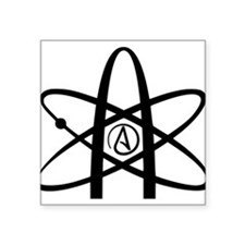 "Atheism Symbol Square Sticker 3"" x 3"""
