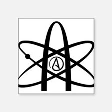 "Atheism Symbol Square Sticker 3"" x 3"""