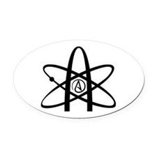 Atheism Symbol Oval Car Magnet