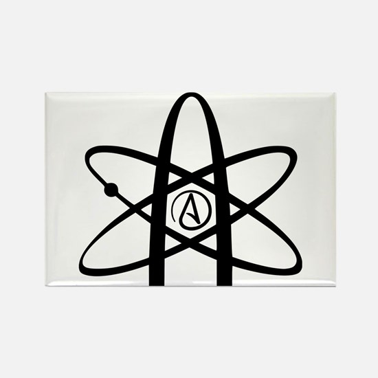 Atheism Symbol Rectangle Magnet (10 pack)