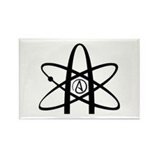 Atheism Symbol Rectangle Magnet