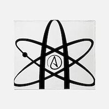 Atheism Symbol Throw Blanket