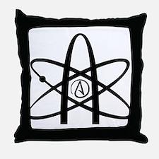 Atheism Symbol Throw Pillow