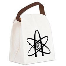 Atheism Symbol Canvas Lunch Bag