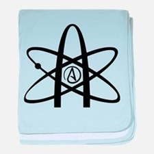 Atheism Symbol baby blanket
