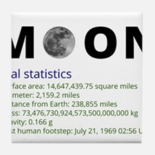 Moon facts Tile Coaster