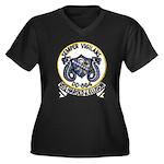 USS HAROLD J Women's Plus Size V-Neck Dark T-Shirt