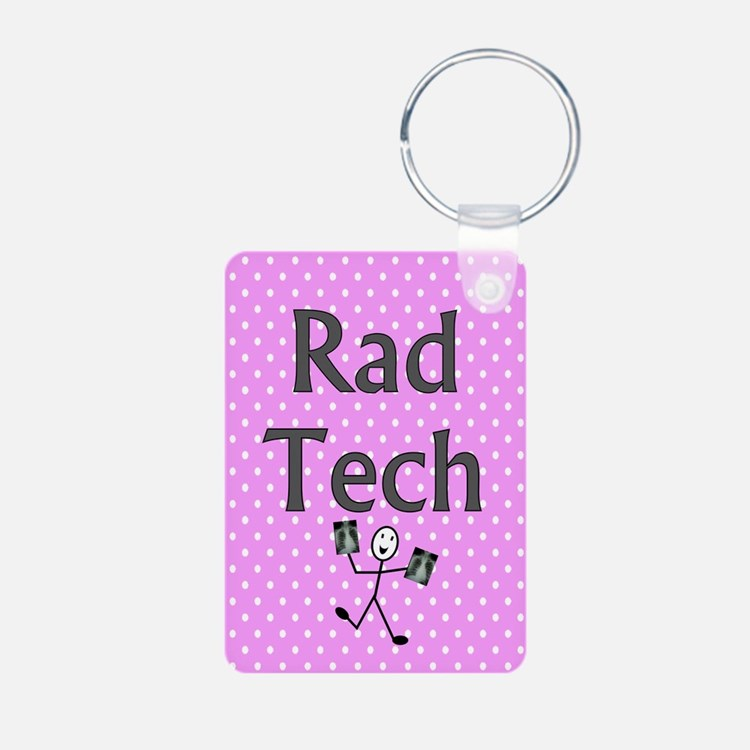 Rad tech tote bag pink polka.PNG Keychains