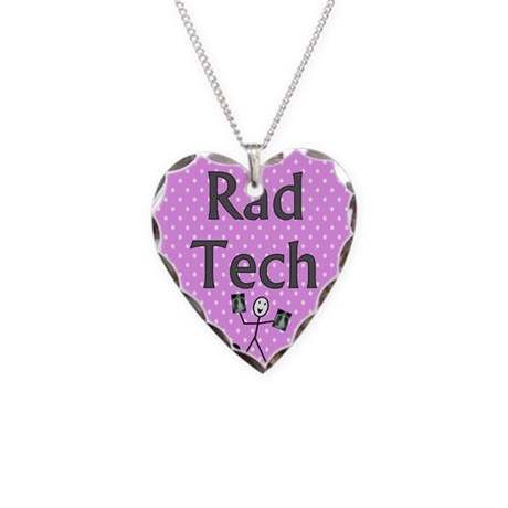 Rad tech tote bag pink polka.PNG Necklace Heart Ch