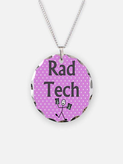 Rad tech tote bag pink polka.PNG Necklace