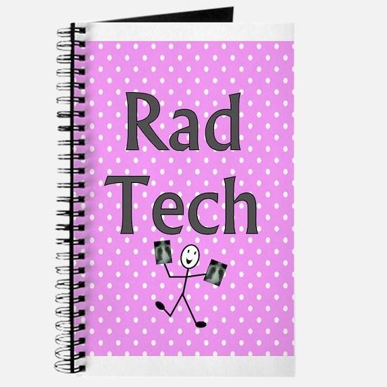 Rad tech tote bag pink polka.PNG Journal
