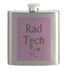 Rad tech tote bag pink polka.PNG Flask